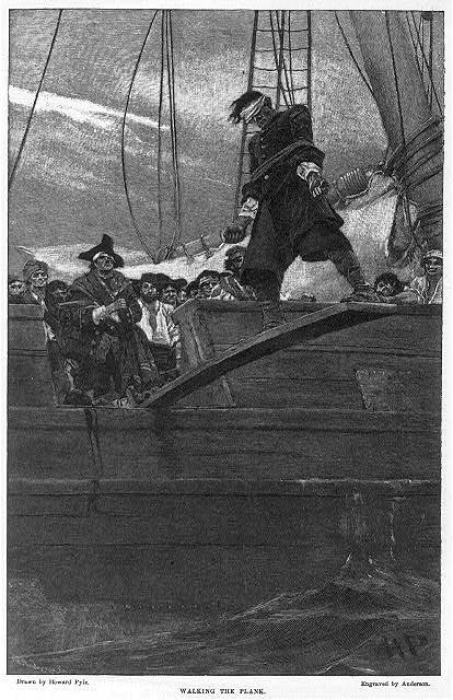 Il capitano John Green del vascello Elisabeth, gettato in mare - (Stampe e fotografie Divisione - Library of Congress)