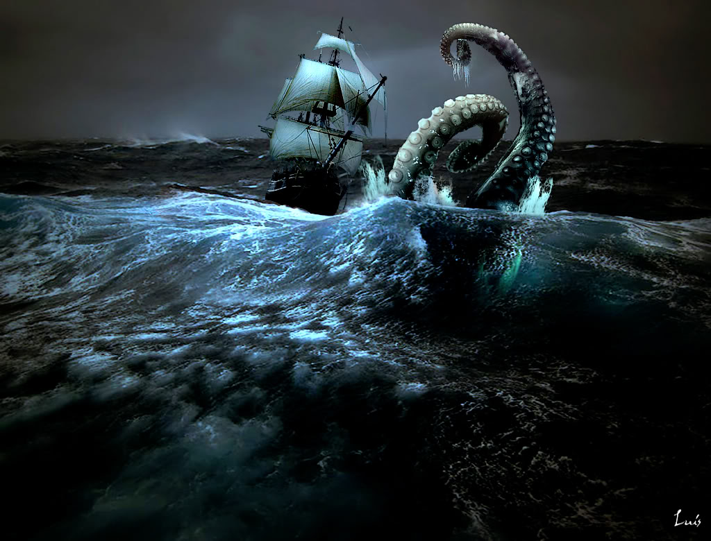 Pin Giant Octopus Attacking Ship on Pinterest