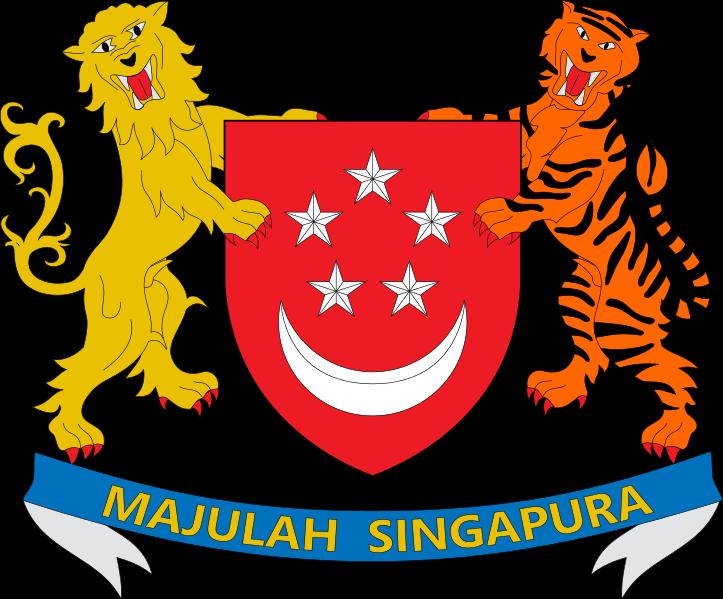 Racconti di mare nave in avaria - Stemma di Singapore - simbolo araldico ufficiale del paese adottato nel 1959