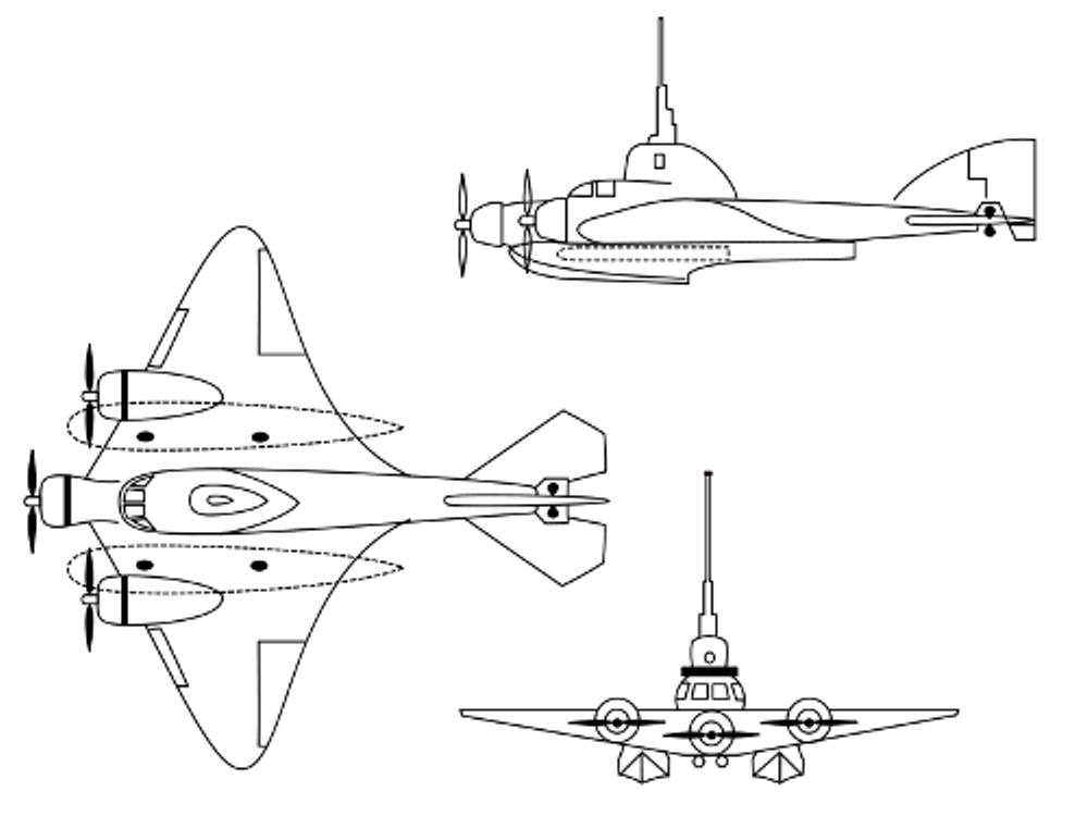 Flying submarine image di Dzerzhinsky B.P.Ushakov (Дзержинского Б.П.Ушаков)