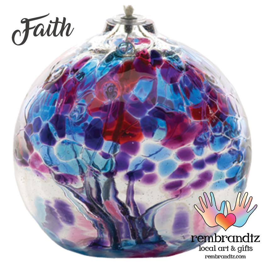 Arte del vetro soffiato, globo USA tipo lampada ad olio